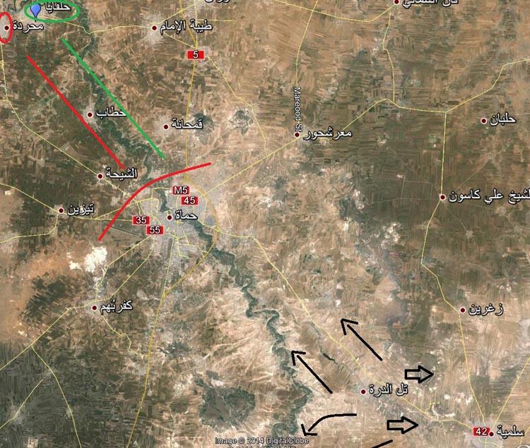 13 شهریور 1393 / وضعیت مناطق حلب و تاثیر نبرد حماه بر حلب