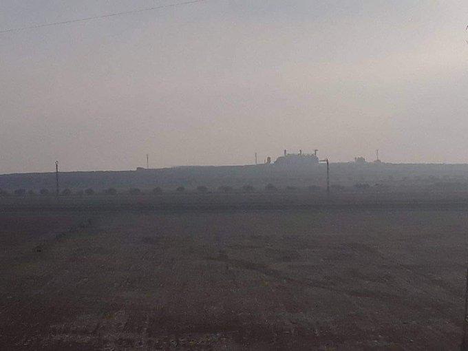 پست نظارتی الصرمان از دوربین ارتش سوریه