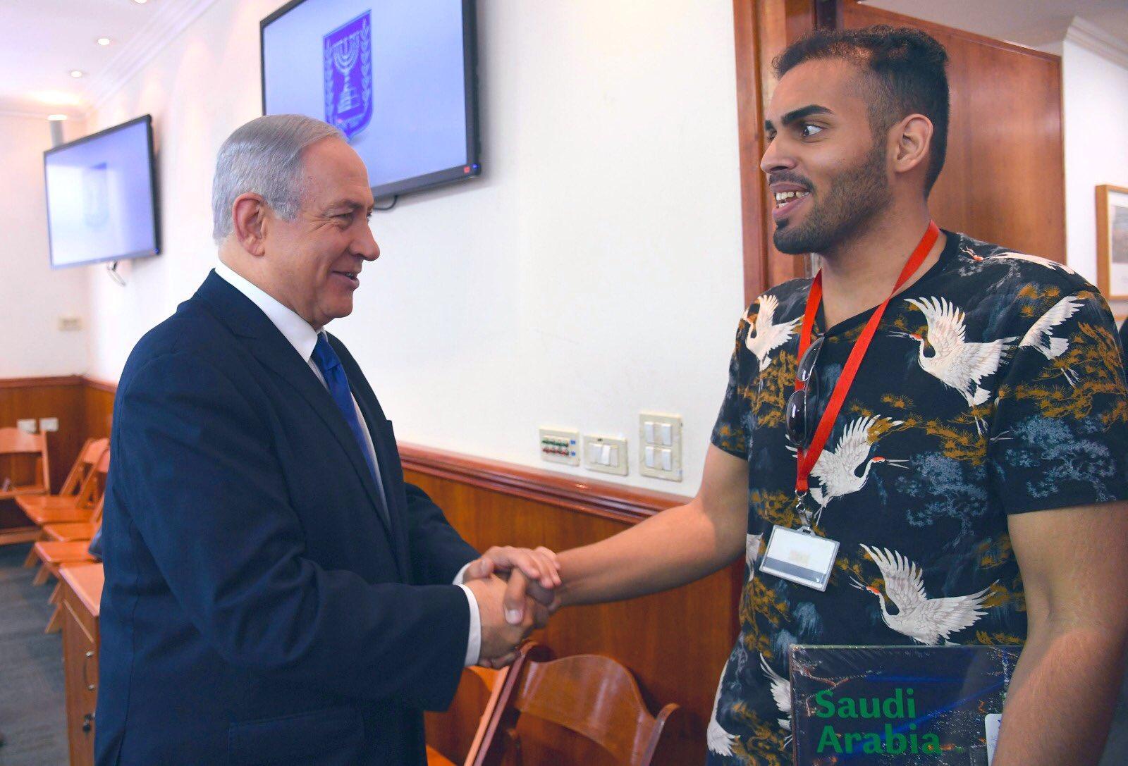 دیدار محمد سعود فعال توئیتری سعودی با بنیامین نتانیاهو