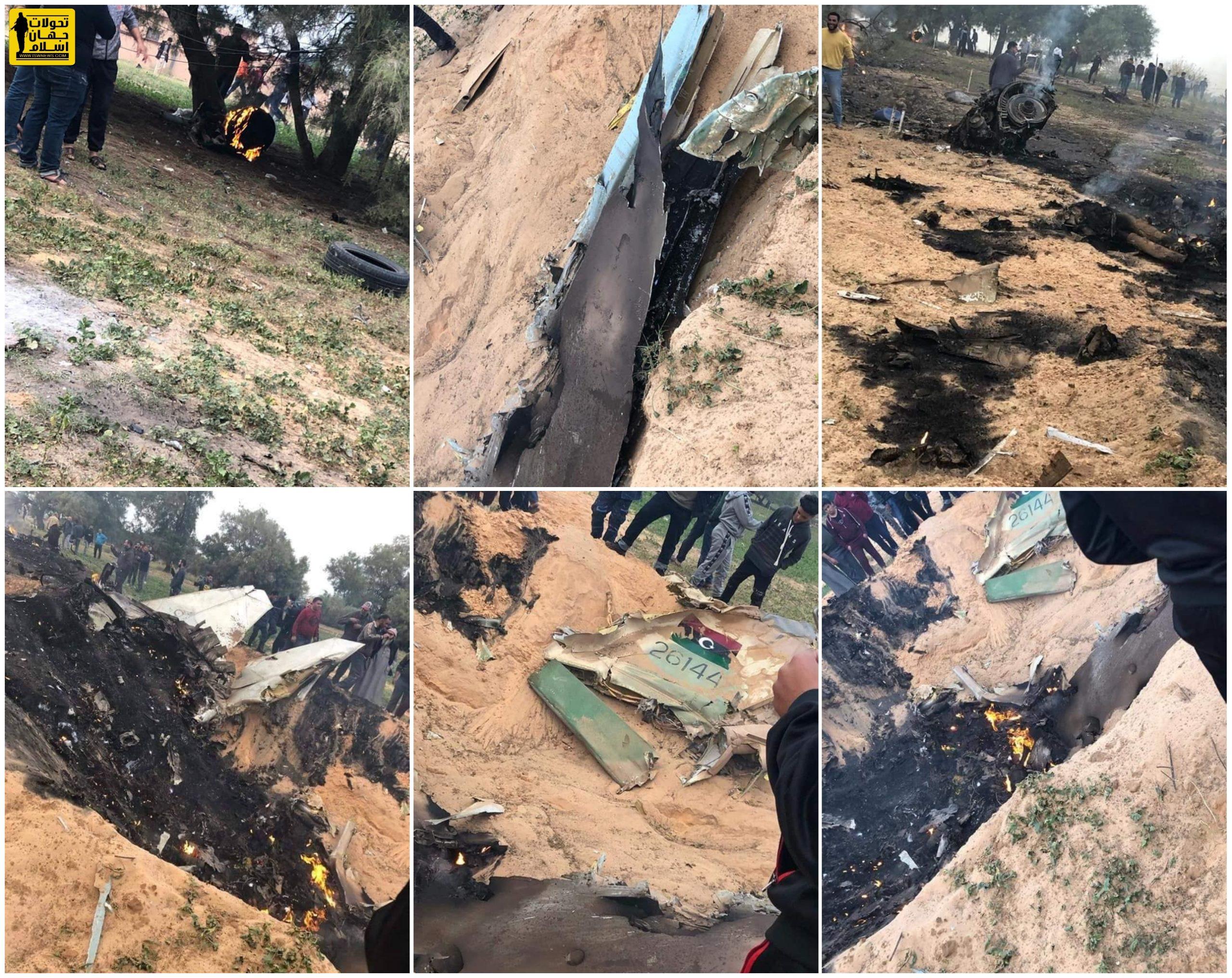 لحظهی انهدام جنگنده ارتش ملی توسط نیروهای دولت وفاق